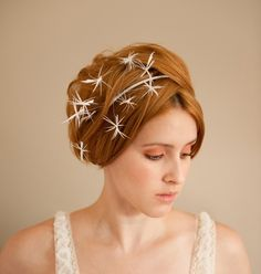 Starburst Bridal Fascinator by emilliner