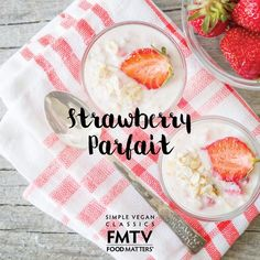 This Strawberry Parfait is dairy free and kids love it! It's super easy and its made with seaweed! Yes, seaweed!   Catch the recipe here on FMTV: https://www.fmtv.com/watch/strawberry-parfait