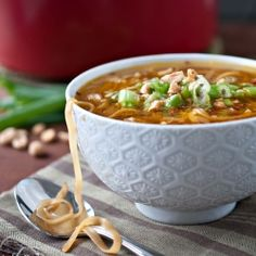 Pad Thai Soup. Quick, easy, healthy, gluten free and even a vegan option. Perfect! use soy free substitutes for soy sauce and tofu
