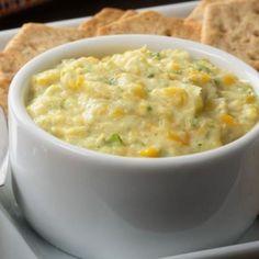 Receita de Patê de Milho Verde - 1 colher (chá) de sal, 3 colheres (sopa) de azeite, 2 colheres (sopa) de orégano, 2 colheres (sopa) de cebolinha verde pica...