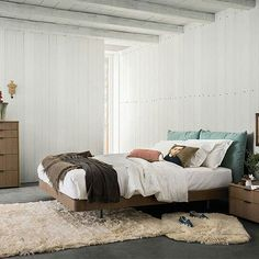 Warm fabrics to snuggle into  Alf Da Frè, bed Cloud  #designbest #bedroominspiration #goodnight