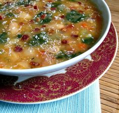 Bean, Bacon and Spinach Soup