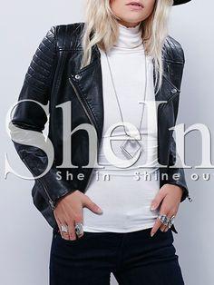 Shop Black Zipper PU Leather Jacket online. SheIn offers Black Zipper PU Leather Jacket & more to fit your fashionable needs.