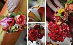 Red/orange bouquets