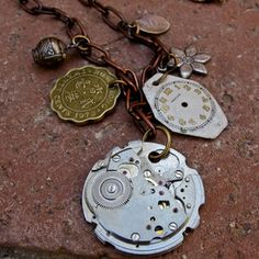 Watch Coin And Charm Necklace by Rue de la Marguerite
