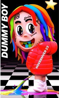 Tekashi 6ix9ine Dummy Boy poster art home decor photo print 24x24 inches