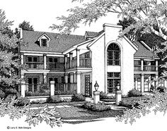 Plantation House Plan with 4030 Square Feet and 4 Bedrooms from Dream Home Source | House Plan Code DHSW46708
