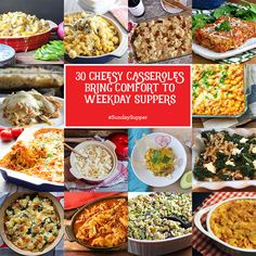 30 Cheesy Casseroles Bring Comfort to Weekday Suppers #SundaySupper www.sundaysuppermovement.com