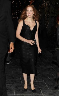 Jessica Chastain from The Big Picture: Today's Hot Photos  The actress is all smiles while leaving an after party in Hollywood.