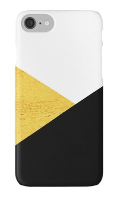 Gold & Black Geometry iPhone Cases & Skins by ARTbyJWP (by-jwp) in Redbubble  #phonecase #iphonecase #phoneaccessories #golden #gold