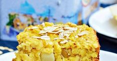 Pieczona owsianka z gruszką; pieczona owsianka; pieczona owsianka z owocami; ciasto owsiane; ciasto owsiane z gruszką Coleslaw, Pie, Desserts, Food, Torte, Tailgate Desserts, Cake, Deserts, Coleslaw Salad