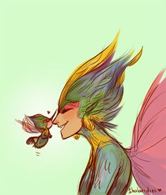 Toothiana and Baby Tooth. Rise of the Guardians