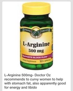 L -Arginine-helps  Reduce Belly Fat, Increase Libido And Energy.: