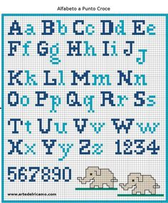 Have you decided to cross-stitch the school apron for your child? Did you find a cross-stitch alphabet pattern? If you are looking for an embroidery pattern with simple cross stitch letters, I suggest you to register now at www. Cross Stitch Alphabet Patterns, Embroidery Alphabet, Cross Stitch Letters, Cross Stitch Charts, Cross Stitch Designs, Embroidery Patterns, Stitch Patterns, Cross Stitch Numbers, Cross Stitch Font