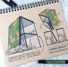 Trendy Ideas For Landscape Architecture Sketch Drawing Landscape Architecture Model, Architecture Drawing Plan, Architecture Drawing Sketchbooks, Conceptual Architecture, Architecture Portfolio, Architecture Design, Architecture Diagrams, Design Despace, Interior Design
