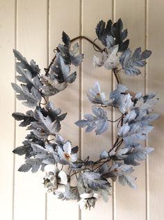 1800s antique French zinc wreath antique by histoireancienne