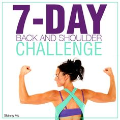 The 7 Day Back and Shoulder Challenge offers something we all would love to have, a sculpted back and shoulders, minus the extra fat. #workout