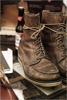 Red Wing boots . . . these make me think of my dad . . . and how hard he worked to provide for our family.