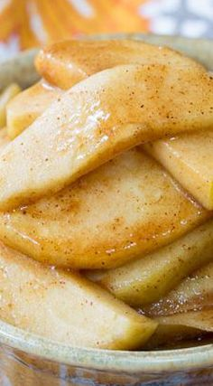 Slow Cooker Cinnamon Apples; can use water or juice in place of bourbon