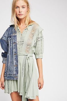 Sydney Dress - Mint Mini Dress with Lace Detail Boho Dress, Lace Dress, Big Girl Clothes, Fall Looks, Free People Dress, Spring Summer Fashion, Lace Trim, Girl Outfits, School Outfits