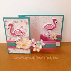 Cute Floating Double Z Flamingo card featuring Close to My Heart Tickled Pink Stamp set and Thincuts.