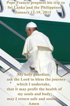 Blessed n Safe travels Pope Francis...