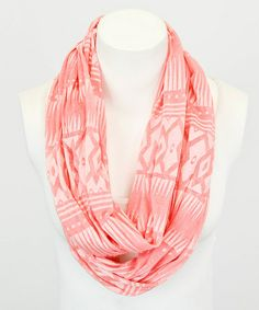 Look at this #zulilyfind! Pink Tribal Burnout Infinity Scarf by Leto Collection #zulilyfinds