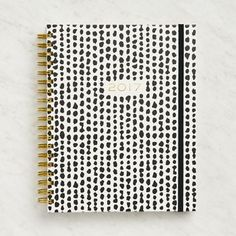 Paper Source Large Black and White Dots Weekly Spiral Planner 2017