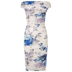Buy Phase Eight Cindy Crush Dress, Blue/White Online at johnlewis.com