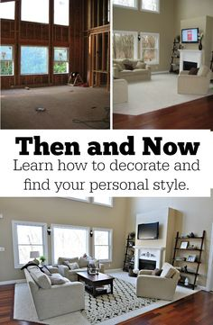 Then and Now.  Learn how to decorate and find your personal style.