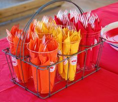 fire truck party centerpieces - Google Search
