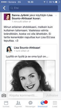 Vastaruno ehdokkaalleni #lisa227