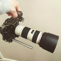 """""""Loving my current #A7s #rig setup metabones adaptor + canon EF 70-200 1:4 L USM on Movcam"""""""