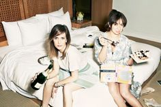 I bet this is one hell of a girl's get away! Kristen Wiig & Maya Rudolph