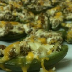 4-Ingredient Sausage and Cream Cheese Jalapeno Poppers