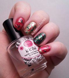 Julie G Ornamental, Big Red Bow, Under Mistletoe #Christmas #holiday #manicure