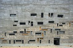 onsomething:  jai—me:  Exterior detail from the Ningbo History Museum Wang Shu - Amateur Architecture Studios