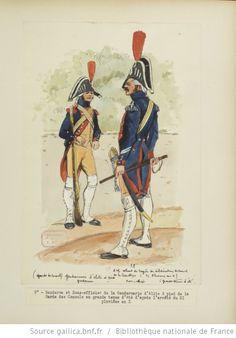[Grenadiers-gendarmes, gendarmerie d'élite de la garde des consuls et de la garde impériale, 1793-1815 / Notes et aquarelles par E. Fort.] - 23