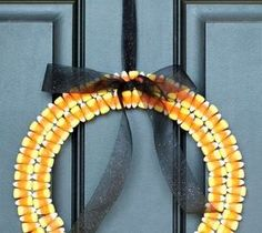 DIY Projects For Home Decorating: Candy Corn Wreath