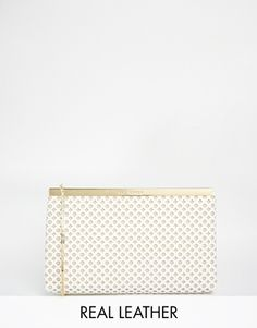 Ted Baker Kala Punched Leather Clutch Bag