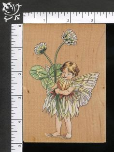 White Clover Flower Fairy Cicely Mary Barker Fairies WM Rubber Stamp 80197 #StampsHappen