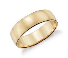 Solidify your love with this classic men's wedding band, crafted from rich and beautiful 14k yellow gold.