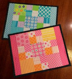 Charm Squares Make These Place Mats Super Quick - Quilting Digest