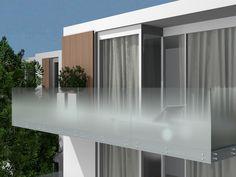Gradient satin glass for parapets MADRAS® NUVOLA | Satin glass Stair balustrade - Vitrealspecchi