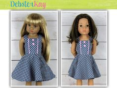 Geometry Class Dress  Doll Clothes to fit 18 inch by DebsterKay
