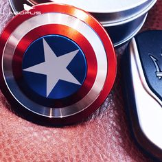 Fidget Spinner Captain America Shield Finger Gyro Anti Stress Rotating Metal Spiral Hand Spinner Adult Toy