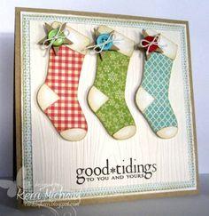 Cute stocking Christmas card idea