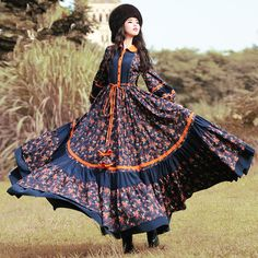 Find More Dresses Information about BOHOCHIC Original Ethnic Rural Floral Long Sleeve Women Large Hem Slim Maxi Dress Cotton Bohemian Sexy Clothes XB0036Q Boho Chic,High Quality clothes fit,China dress sticker Suppliers, Cheap clothes bargain from Boho Chic on Aliexpress.com