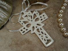 Porcelain Hanging Cross Ornament Party Favors