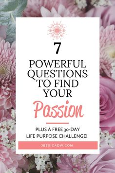 Finding our passion in life is realistic and attainable. Here are the 7 questions I asked myself to discover my passion. These questions are designed to make us pause and think deeply about the answers. We don't often give ourselves the luxury of time and solitude to figure things out. But when we do, we have the power to transform our lives. If you're feeling stuck, unhappy or unfulfilled, I urge you to think about these questions. Our passion can lead us to our purpose. Purposeful living. Life Advice, Relationship Advice, Self Development, Personal Development, My Purpose In Life, Think Deeply, Positive Body Image, You Better Work, Self Acceptance